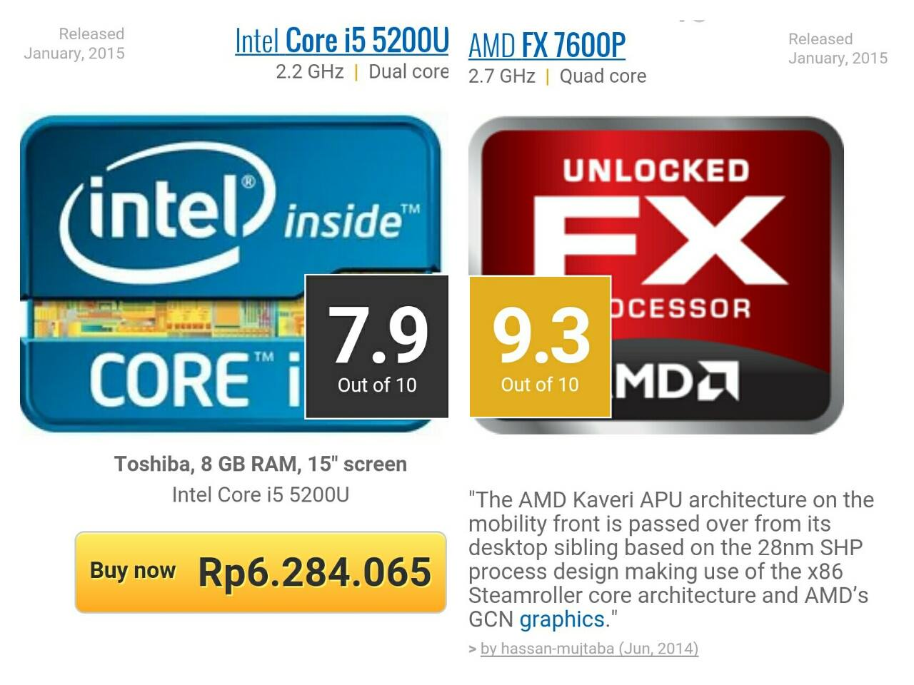 Intel vs AMD